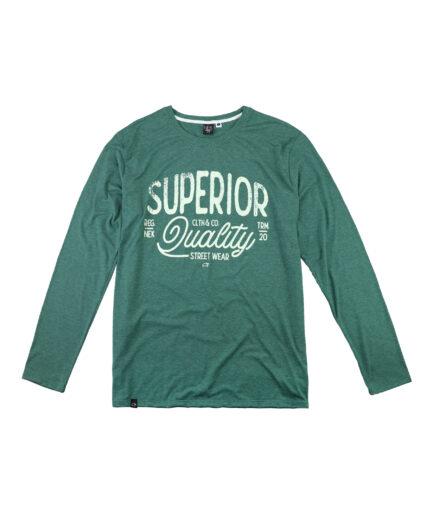 Zelena majica dugih rukava muska