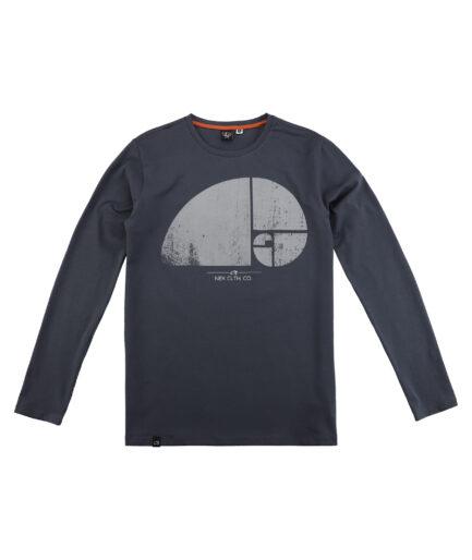 muska majica puz sa printom tamno siva