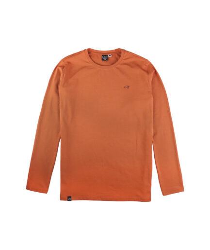 muska majica dugih rukava u cigla boji sa vezom