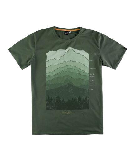muska maslinasto zelena majica kratkih rukava