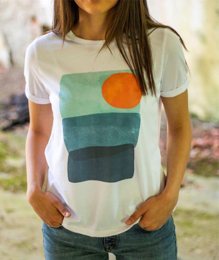 ženska majica sunce